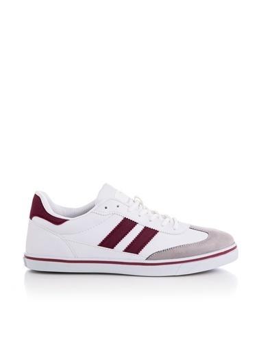 Tonny Black Beyaz Bordo Unısex Spor Ayakkabı Tbadm  Beyaz